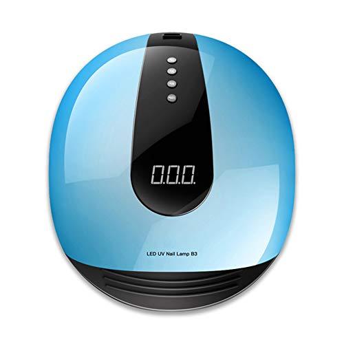 ZXCV 80W große Leistung Nageltrockner UV-LED-Lampe Maniküre Nageltrocknungsmaterial 36Leds mit Timer-Set,Blue (578 Led-lampe)