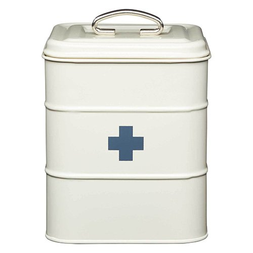 Price comparison product image Living Nostalgia Antique Cream First Aid Tin - Keep all your essential first aid supplies safely in one place with this first aid tin.
