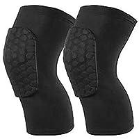 ضمادات ركبة رياضية، قطعتين، قياس M، لون اسود، مصنوعة من قماش قابل للتمدد، دعامة ركبة وساق وكم للاعبي كرة السلة