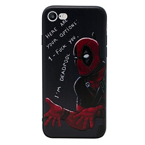 iPhone 5/5s 3D Marvel Silikonhülle / Gel Hülle für Apple iPhone 5s 5 SE / Schirm-Schutz und Tuch / iCHOOSE / Deadpool - Optionen (Marvel Handy-fall Iphone 5)