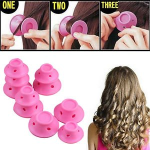 SLB Works Brand New 20pcs Beauty Women Roll Hair Maker Curlers Roller Soft Silicone DIY Cosmetic Pop