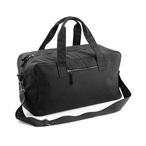 Bagbase Oakdale Segeltuch Reisetasche mit Schulterriemen Marineblau