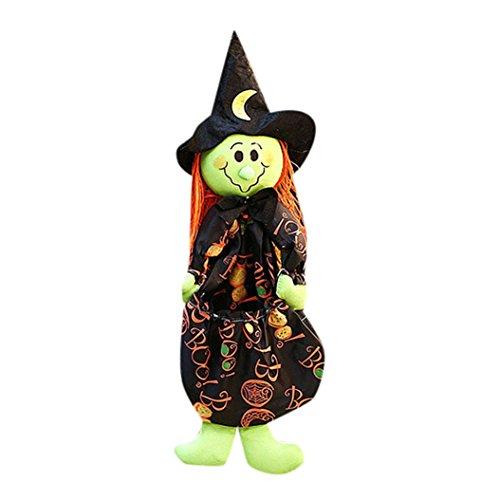 Hirolan Halloween Puppe Ornaments Geschenke Szene Dekoration Hexe Kürbis Geist Ornaments (Up Light Schwarz Tutu)