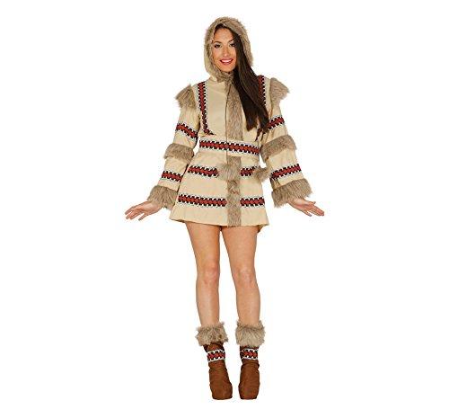 Sexy Eskimo Erwachsene Für Kostüm - Fiestas Guirca Inuit-Eskimo-Frauenkostüm, das in arktischen Gebieten lebt