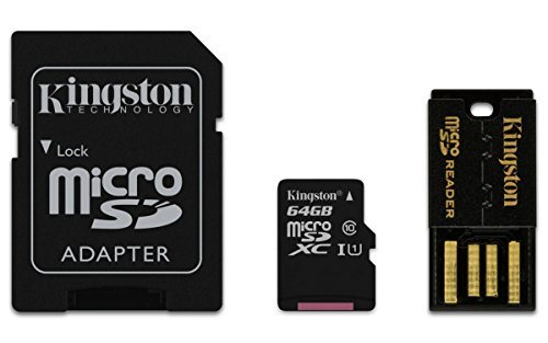 Kingston Mobility Kit micro-SDHC/SDXC 64GB Klasse 10 (Karte plus SD und USB-Adapter) -