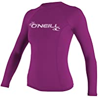 ONEILL WETSUITS O 'Neill Wetsuits Mujer Protección UV WMS Basic MusicSkins L/S Crew rosa Fox pink Talla:large