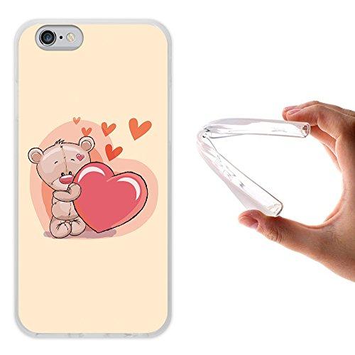 iPhone 6 6S Hülle, WoowCase Handyhülle Silikon für [ iPhone 6 6S ] Liebe Streifen Handytasche Handy Cover Case Schutzhülle Flexible TPU - Transparent Housse Gel iPhone 6 6S Transparent D0214