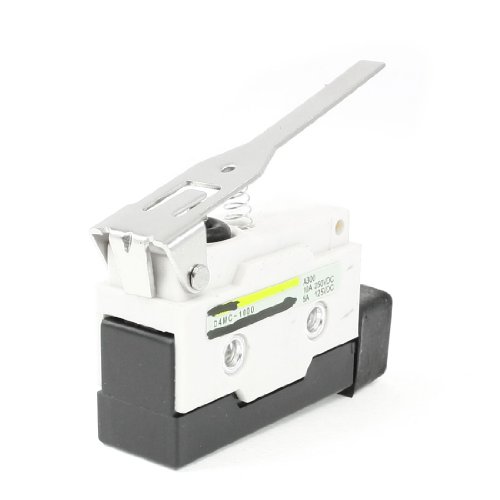 Sourcingmap - 250 vdc 10a d4mc-1000 palanca de bisagra larga actuador spdt micro básico de final de carrera