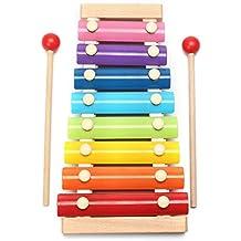 Xilofono Kid 8 Nota musicale Giocattoli xilofono Octave piano di colpo musica creativa per bambini in età prescolare Giocattoli