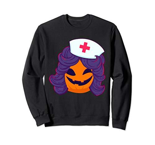 Lustiges Halloween Kürbis Krankenschwester Kostüm - Lustige Krankenschwester Kostüm