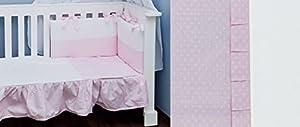 Vizaro - Funda Nórdica para MAXICUNA 70x140 cm - 100% Algodón Alta Calidad - Colección Rosa y Blanco - Controlado contra sustancias nocivas - Fabricado en la UE
