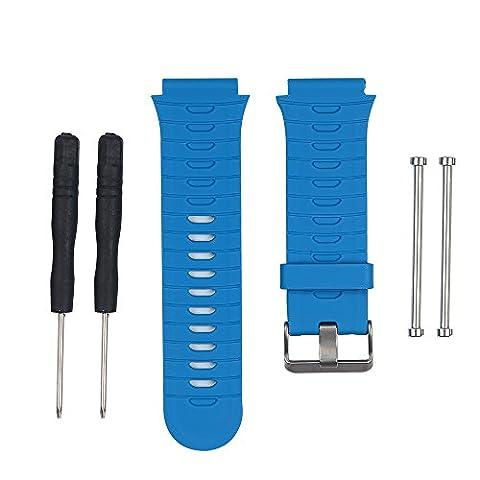 WEINISITE Silicone Bracelet de Remplacement pour Garmin Forerunner 920XT (Bleu, Unique taille)