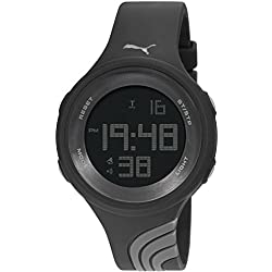 Puma Unisex Twist L Digital Watch with LCD Dial Digital Display and Black PU Strap PU911091002