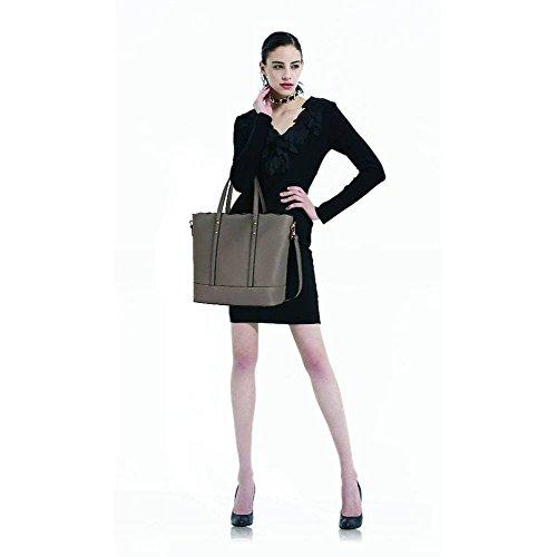TrendStar Meine Damen Groß Umhängetaschen Frauen Konstrukteur Hand Taschen Leder Promi-Stil Neue Taschen Grau