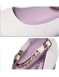 afb19073f DEED Zapatos de tacón bajo Bombas Mujer Sandalia Zapatos Verano Ocio Zapatos  Finos Empleada de Oficina con Lazos de Cristal Salvaje…