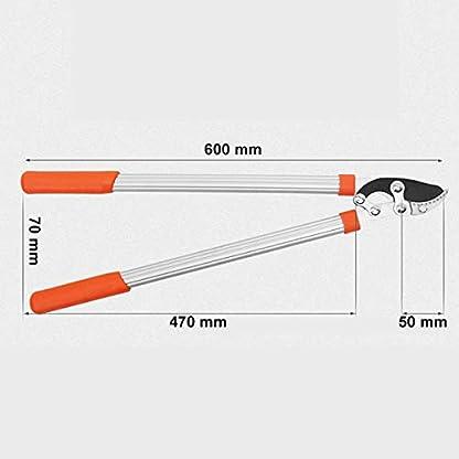 XPKZYSLJ-J Tijera de poda 2 Manos Corte Bypass, Tratamiento de Recubrimiento de teflón Brazo de Corte Grueso de aleación de Aluminio, Apertura máxima 70 mm