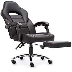 IntimaTe WM Heart Sedia Gaming, Sedia con Alto Schienale, Sedia di Computer, Sedia da Gioco di Pu, Sedia ergonomica con Il Cuscino Lombare e poggiapiedi (Nero)