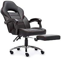 Racing Chaise de Gaming, IntimaTe WM Heart Fauteuil Ergonomique de Relaxation avec Repose-Pied Pliable Siège de Bureau