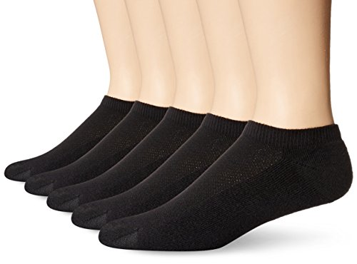 hanes-mens-5-pack-ultimate-x-temp-no-show-socks-black-10-13-shoe-size-6-12