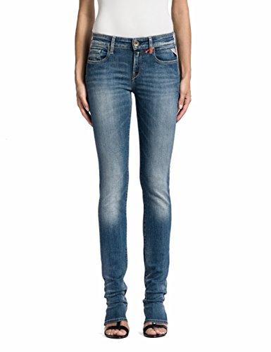 Replay Damen Straight Leg Jeanshose Vicki, Gr. W25/L30 (Herstellergröße: 25), Blau (Blue Denim 9)