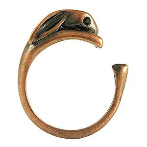 Un Lapin Animaux réglable Bague Vintage ton Bronze)