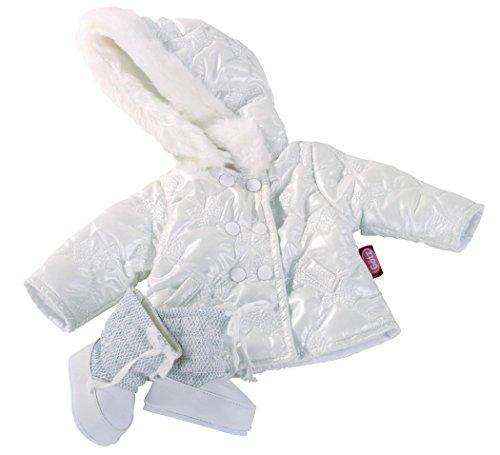 Preisvergleich Produktbild Götz 3402186 Kombination Silberschleifchen - Steppjacke Schleifchen Puppenbekleidung - Gr. XL - 3-teiliges Bekleidungs- und Zubehörset für Stehpuppen mit einer Größe von 45 - 50 cm - bestehend aus Winterjacke und Winterstiefel - geeignet für Kinder ab 3 Jahren