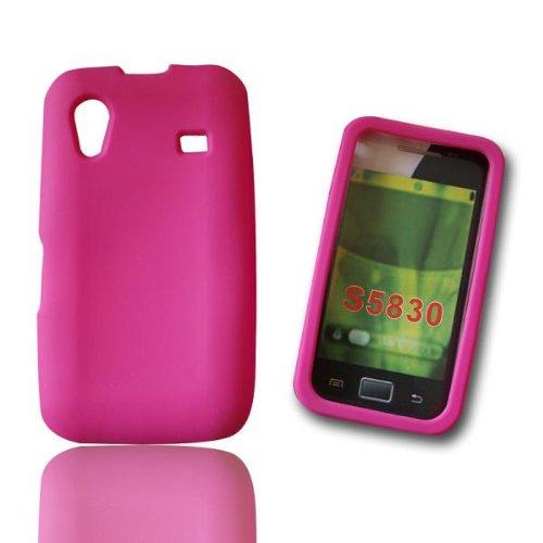 Silikon Case Tasche Etui Handytasche Schutzhülle PINK für Samsung GT-S5830 Galaxy Ace Silicon