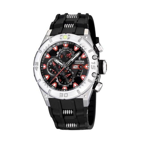 Festina - F16528/4 - Montre Homme - Quartz - Chronographe - Chronomètre - Bracelet Plastique Noir