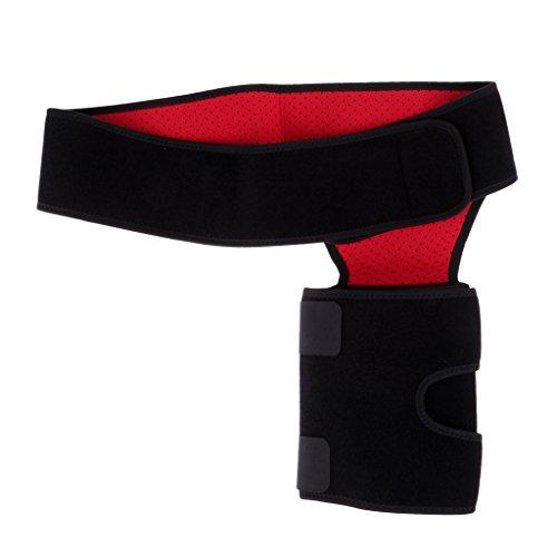 FLAMEER Neopren Oberschenkel Leistenbandage Unterstützung Kompression Beinwickel Fitness Gürtel Wrap Anti Slip Streifen Einstellbar Kniesehne Kompression Wrap -