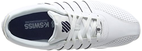 K-Swiss Arvee 1.5 Perf, Homme Baskets Low-Top Blanc - White (Wht/Wht/Nvy)