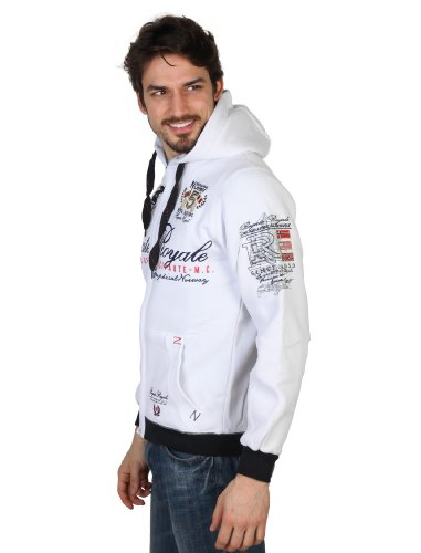 Geographical Norway Sweatjacke Hoodie Pullover Sail Club Fregatte Neu Weiß