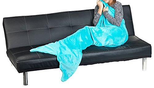 Wilson Gabor Meerjungfrauendecke: Weiche Meerjungfrau-Decke mit Flosse für Erwachsene, 180 x 70 cm, grün (Decke mit Meerjungfrau-Schwanz) - Wilson Decke