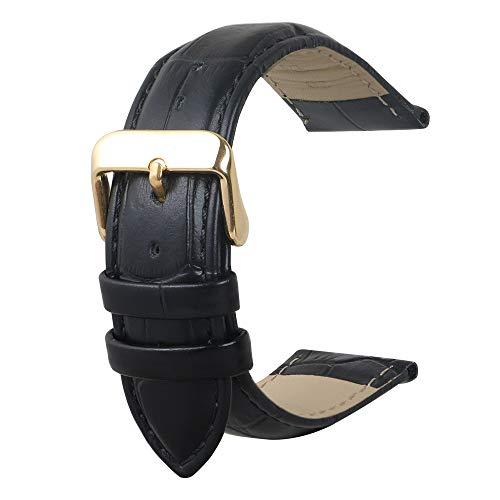 Cinturino pelle Vitello Classico Ricambio Strap Argento Fibbia Strumento di...