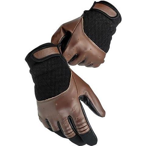 Biltwell Bantam in pelle estate guanti da moto, uomo, Brown / Black, 2XL