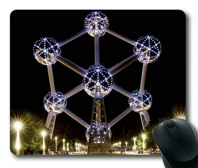 Atomium in Brussels Rectangle Mouse Pad by Sakuraelieechyan