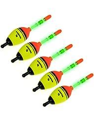 5 pièces 5/15/40g EVA Flotteurs+10 pcs Glow Stick Flotteurs de pêche lumineux éclairage EVA mousse Flotteurs (5X 5g EVA Flotteurs avec 10X Glow Sticks)