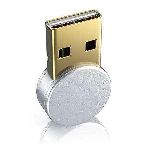 CSL - Bluetooth Adapter für Notebook oder PC | verbesserte Energieeffizienz | USB Bluetooth Class 4.0 Technologie | zur Verbindung von diversen Bluetoothgeräten (Tastaturn / Kopfhörer / Soundboxen) mit dem PC oder dem