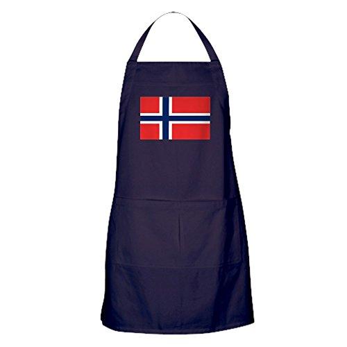 CafePress–Flagge Norwegen Schürze (dunkel)–100% Baumwolle Küche Schürze mit Taschen, perfekt Grillen Schürze oder Backen Schürze