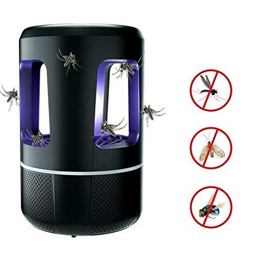LXYFMS Moskito-Mörder-Lampe Insekt Fliegen-Wanze Zapper-Falle Schädlings-USB LED-Kontrolle UVLight Haus LED-Wanze im Freien Zapper Falle strahlungslos Insektenspray (Color : Black)