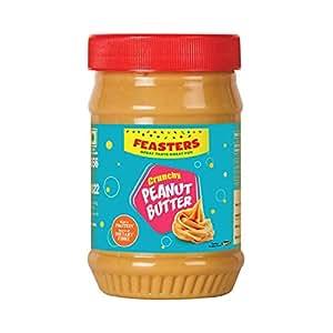 Feasters Peanut Butter Crunchy Bottle, 510g