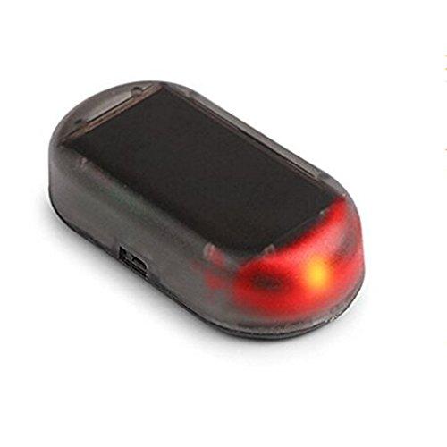 ALTcompluser Alarmanlage Auto, Solarladung Sicherheitsalarm Dummy Imitation Car Alarm LED Licht Sicherheitssystem Warnung Diebstahl Flash Blinken Sicherheitsposten Vorsicht Blitz (H01-1)