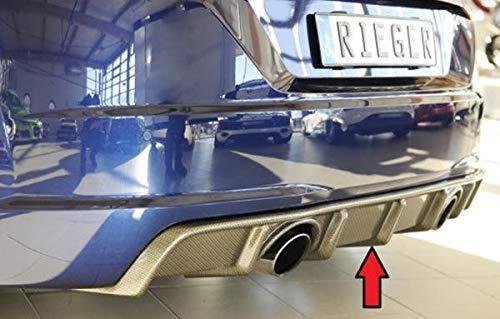 Rieger Heckeinsatz Carbon-Look für Audi TT (8J-FV/8S): 07.14-