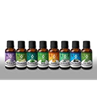 Amos Essential Oils Top 8 Gift Set Pure Essential Oils for Diffuser, Humidifier, Massage, Aromatherapy, Skin & Hair Care