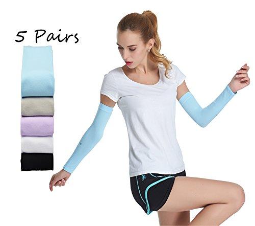 HOPESHINE Arm Sleeves Arm Ärmel Sonnenschutz Unisex Kühlung Radsport Armlinge