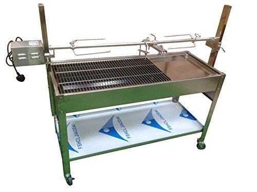 Kommerzielle Freistehende Grill (Anthrazit Hog Braten Rotisserie BBQ Spit Maschine–Edelstahl & Köche bis 40kg)