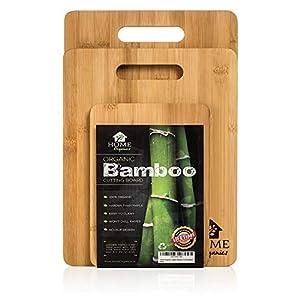 Haushalts-Schneidebrett-Satz aus erstklassigem organischem Moso-Bambus zur Lebensmittelzubereitung von Fleisch, Brot, Kräckern und Käse