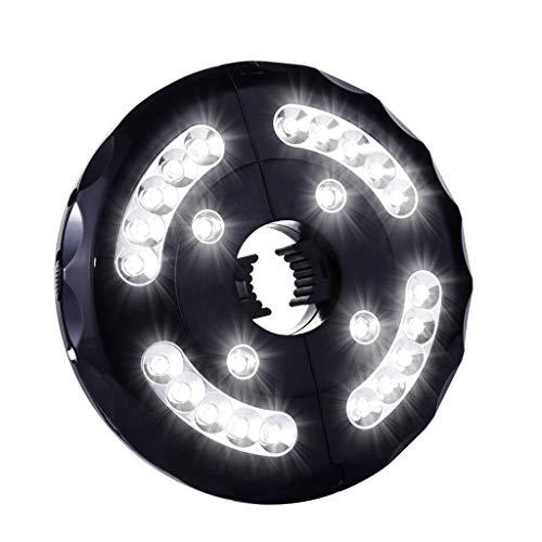 Altsommer Patio Regenschirm Licht, Schnurloses 24 LED Nachtlicht, Regenschirm LED Licht, Batterie Betriebenes Regenschirm Mastlicht für Regenschirme, Camping Zelte Außenbereich -