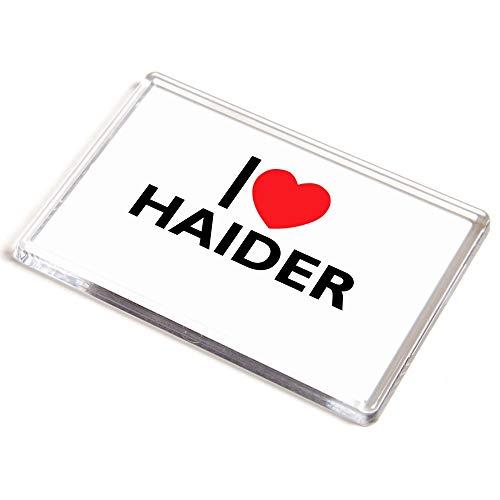 Unbekannt Jumbo-Magnet - I Love Haider - Geschenk für Jungen