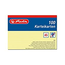 Herlitz Index Cards A5 a5 yellow