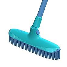 Spontex Blue Rubber Indoor Broom